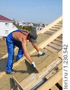 Купить «Строительство дома», фото № 1230542, снято 19 августа 2008 г. (c) Yanchenko / Фотобанк Лори