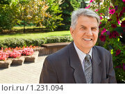 Купить «Пожилой деловой мужчина», фото № 1231094, снято 15 сентября 2009 г. (c) Losevsky Pavel / Фотобанк Лори
