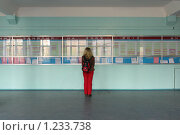 Купить «Студентка читает расписание занятий», фото № 1233738, снято 22 ноября 2009 г. (c) Erudit / Фотобанк Лори