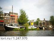 Купить «Жилые лодки на каналах Амстердама», фото № 1247970, снято 9 августа 2009 г. (c) Филонова Ольга / Фотобанк Лори