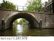 Купить «Канал семи мостов - Амстердам», фото № 1247978, снято 9 августа 2009 г. (c) Филонова Ольга / Фотобанк Лори