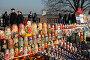 Продажа сувениров на Воробьёвых горах, эксклюзивное фото № 1248822, снято 20 октября 2009 г. (c) Free Wind / Фотобанк Лори
