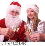 Купить «Дед Мороз и Снегурочка», фото № 1251490, снято 28 ноября 2009 г. (c) Юлия Машкова / Фотобанк Лори