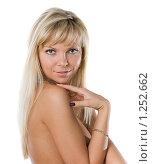 Девушка на белом фоне. Стоковое фото, фотограф Чернов Дмитрий / Фотобанк Лори