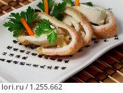 Купить «Рулет из мяса краба», фото № 1255662, снято 28 октября 2009 г. (c) ElenArt / Фотобанк Лори