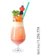 Купить «Фруктовый коктейль», фото № 1256774, снято 27 июля 2009 г. (c) Ярослав Данильченко / Фотобанк Лори