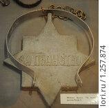 """Шейная медаль """"За пьянство"""" времён Петра I (2009 год). Редакционное фото, фотограф Free Wind / Фотобанк Лори"""