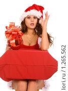 Купить «Девушка в новогоднем костюме», фото № 1265562, снято 30 августа 2008 г. (c) Валентин Мосичев / Фотобанк Лори