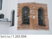 Купить «Фрагмент стены Софийского собора в Великом Новгороде до реставрации», фото № 1265894, снято 21 февраля 2009 г. (c) Ярослава Синицына / Фотобанк Лори