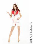 Купить «Соблазнительная девушка в образе медсестры», фото № 1266010, снято 12 ноября 2009 г. (c) Raev Denis / Фотобанк Лори