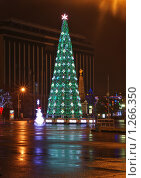 Купить «Новогодняя городская елка ночью», фото № 1266350, снято 24 декабря 2008 г. (c) Андрей Емельяненко / Фотобанк Лори