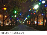 Купить «Ночные огни города Краснодара», фото № 1268394, снято 24 декабря 2008 г. (c) Андрей Емельяненко / Фотобанк Лори