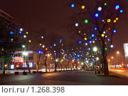 Купить «Ночные огни города Краснодара», фото № 1268398, снято 24 декабря 2008 г. (c) Андрей Емельяненко / Фотобанк Лори