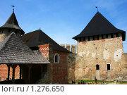 Крепость в Хотине. Вид изнутри. Украина (2009 год). Стоковое фото, фотограф Марина Рябущиц / Фотобанк Лори