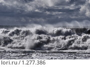 Купить «Черное море. Шторм», фото № 1277386, снято 24 июня 2018 г. (c) Дмитрий Заморин / Фотобанк Лори