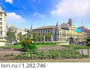 Купить «Городской пейзаж  Барселоны. Площадь Каталонии», фото № 1282746, снято 27 августа 2008 г. (c) Vitas / Фотобанк Лори