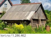 Купить «Старый сарай», фото № 1286462, снято 20 июня 2009 г. (c) Сергей Разживин / Фотобанк Лори