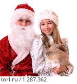 Купить «Дед Мороз и Снегурочка», фото № 1287362, снято 28 ноября 2009 г. (c) Юлия Машкова / Фотобанк Лори