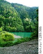 Озеро Рица и горы. Стоковое фото, фотограф Ольга Гончар / Фотобанк Лори