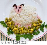 Овечка из риса. Еда для детей. Стоковое фото, фотограф Галина Лукьяненко / Фотобанк Лори