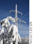 Купить «Электрическая опора», фото № 1291478, снято 21 февраля 2009 г. (c) Yanchenko / Фотобанк Лори