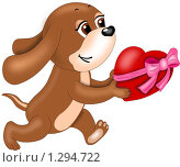 """Купить «Валентинка """"спешу к тебе""""», иллюстрация № 1294722 (c) Павлова Елена / Фотобанк Лори"""