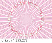 Купить «Абстрактный фон. Розовый венок», фото № 1295278, снято 26 июля 2008 г. (c) Илюхина Наталья / Фотобанк Лори