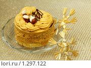 Пирожное и снежинки - новогодний десерт. Стоковое фото, фотограф ElenArt / Фотобанк Лори