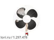 Купить «Электрический вентилятор, изолированный на белом фоне», фото № 1297478, снято 1 августа 2008 г. (c) Elnur / Фотобанк Лори