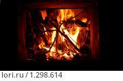 Огонь в печке. Стоковое фото, фотограф Елена Ильина / Фотобанк Лори