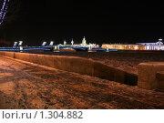 Купить «Вид на здание Кунсткамеры зимней ночью», фото № 1304882, снято 16 декабря 2009 г. (c) Александр Секретарев / Фотобанк Лори