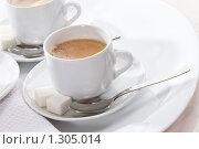 Купить «Чашки с кофе», фото № 1305014, снято 8 июля 2009 г. (c) Кравецкий Геннадий / Фотобанк Лори