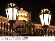 Купить «Уличные фонари перед отелем-казино Bellagio (Беллажио), Лас-Вегас», фото № 1305690, снято 20 января 2009 г. (c) Виктор Савушкин / Фотобанк Лори