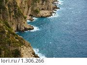 Купить «Скалистый берег острова Капри», фото № 1306266, снято 4 октября 2008 г. (c) Андрей Емельяненко / Фотобанк Лори