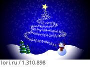 Купить «Новогоднее чудо», эксклюзивная иллюстрация № 1310898 (c) Ольга Корбут / Фотобанк Лори