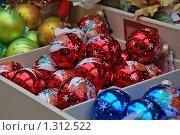 Купить «Елочные игрушки», эксклюзивное фото № 1312522, снято 9 декабря 2009 г. (c) lana1501 / Фотобанк Лори