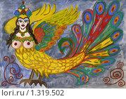 Купить «Жар-птица, рисунок», иллюстрация № 1319502 (c) Ольга Лерх Olga Lerkh / Фотобанк Лори