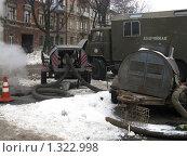 Авария теплотрассы зимой. Стоковое фото, фотограф Сергей Ратушный / Фотобанк Лори