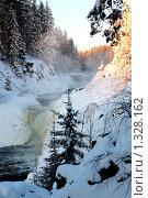 Купить «Водопад Кивач. Зима», эксклюзивное фото № 1328162, снято 25 декабря 2009 г. (c) Сергей Цепек / Фотобанк Лори