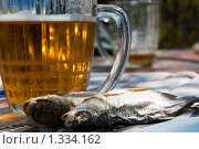 Натюрморт с кружкой пива и воблой. Стоковое фото, фотограф Михаил Тимонин / Фотобанк Лори