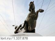 Купить «Аничков мост.  Укротитель коня. Санкт-Петербург», эксклюзивное фото № 1337878, снято 2 января 2010 г. (c) Александр Алексеев / Фотобанк Лори