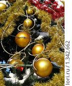 Купить «Фрагмент новогодней елки», эксклюзивное фото № 1342662, снято 4 января 2010 г. (c) lana1501 / Фотобанк Лори