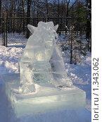 Купить «Ледяные скульптуры в Снежном городке. Парк Сокольники, Москва», эксклюзивное фото № 1343062, снято 4 января 2010 г. (c) lana1501 / Фотобанк Лори