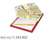Купить «Доллары и планшет», фото № 1343862, снято 26 апреля 2009 г. (c) Elnur / Фотобанк Лори