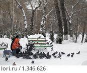 Купить «Зима в городском парке», фото № 1346626, снято 6 января 2010 г. (c) Andrey M / Фотобанк Лори
