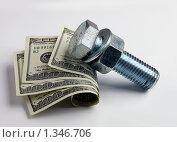 Доллары на нейтральном фоне. Стоковое фото, фотограф Александр Задирака / Фотобанк Лори