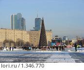 Купить «Новогодняя елка в Парке Победы, Москва», эксклюзивное фото № 1346770, снято 5 января 2010 г. (c) lana1501 / Фотобанк Лори
