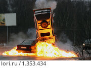 Купить «Авария на шоссе», фото № 1353434, снято 15 февраля 2005 г. (c) Татьяна Белова / Фотобанк Лори