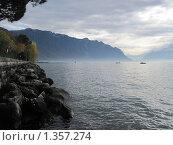Берег Женевского озера (2009 год). Стоковое фото, фотограф Виктор Пивоваров / Фотобанк Лори