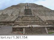 Мексика. Пирамиды. Теотихуакан (Теотиукан) (2008 год). Стоковое фото, фотограф Анна Зеленская / Фотобанк Лори